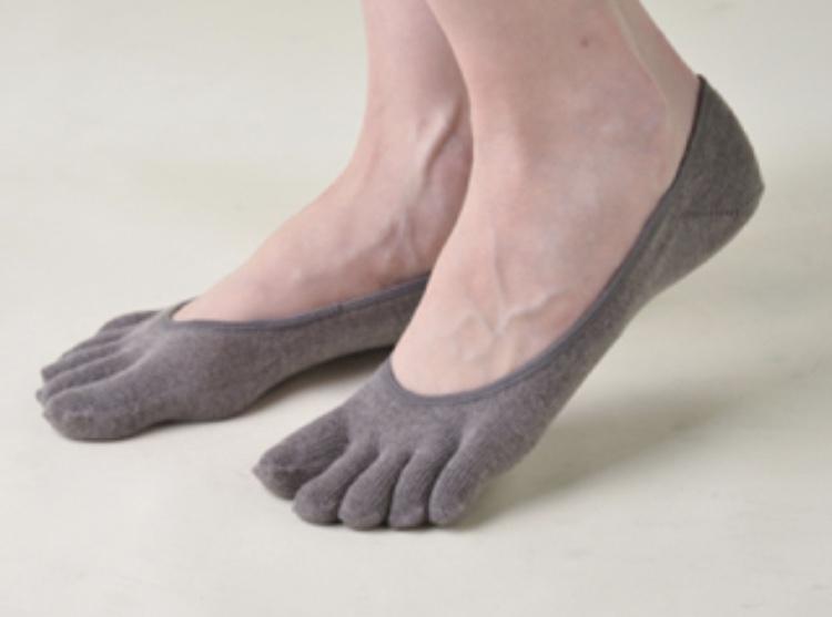 5本指の靴下で冷えを改善