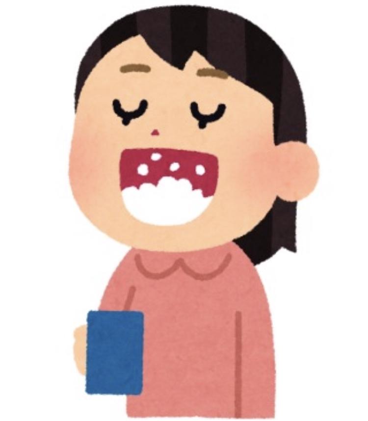 朝うがいをして口内の細菌を減らす